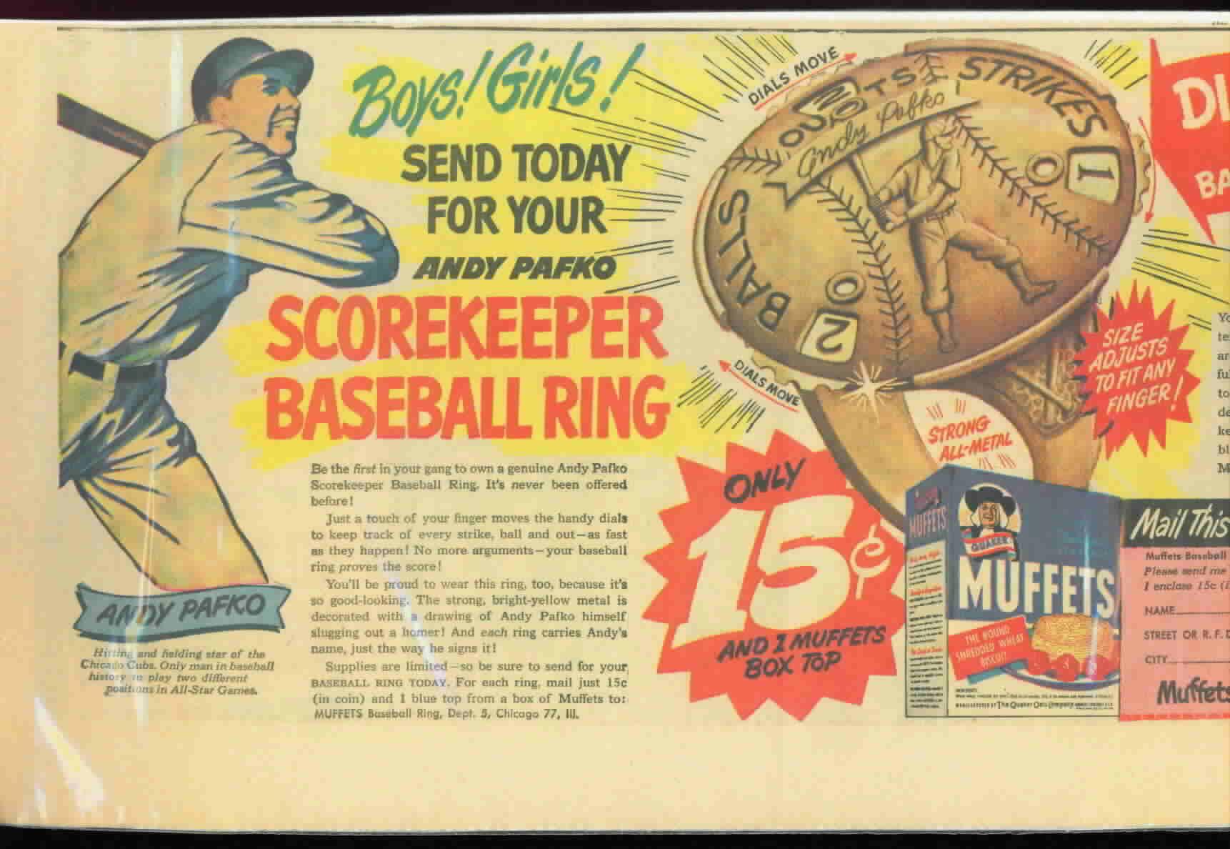 PAFKO 1949 Ring Ad & Order